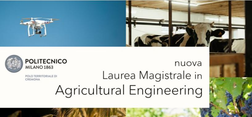 Polimilano: Laurea Magistrale in Agricultural Engineering